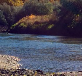 Musselshell River Near Roundup Montana During Fall