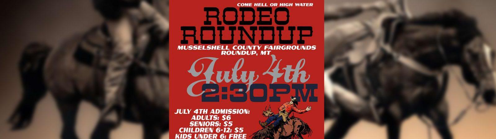 Rodeo Roundup 2017 Poster Roundup Montana