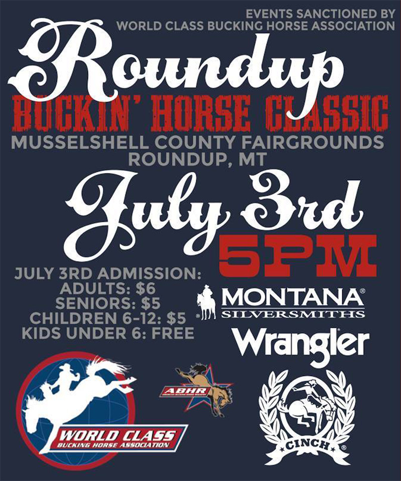 Poster Roundup Buckin Horse Classic Rodeo Roundup Montana Musselshell County